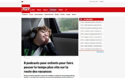 Article dans 7 sur 7 Belgique